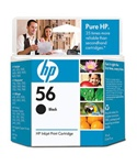 HP #56 Genuine Black Ink C6656AN