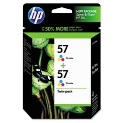 HP #57 Genuine Tri-Color Ink Cartridges C9320BN