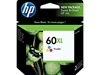 HP 60XL High Yield Tri-Color Inkjet Cartridge CC644WN