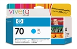 HP #70 Genuine Cyan Ink Cartridge C9452A