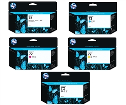 HP #72 C9370A-4A High Yield Genuine Ink Cartridge Combo