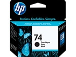 HP #74 Genuine Black Inkjet Ink Cartridge CB335WN