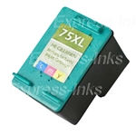 HP #75XL Tri-Color Inkjet Ink Cartridge CB338WN