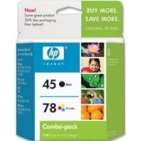 HP 45/78 2-Pack Black/Tricolor Ink/Inkjet Cartridges - C8788BN