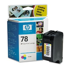 HP 78 Tri-Color Inkjet Cartridge C6578DN