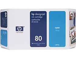 HP 80 Cyan Inkjet Cartridge C4846A