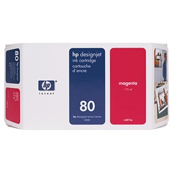 HP #80 Genuine Magenta Ink C4874A