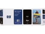 HP #81 Black Dye Inkjet Cartridge C4930A
