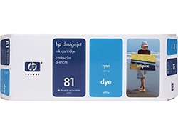 HP #81 Cyan Dye Inkjet Cartridge C4931A
