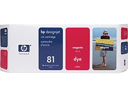 HP #81 Magenta Dye Inkjet Cartridge C4932A