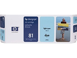 HP #81 Light Cyan Dye Inkjet Cartridge C4934A