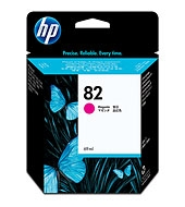 HP #82 Genuine Magenta Inkjet Ink Cartridge C4912A