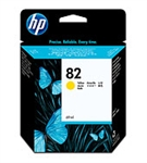 HP #82 Genuine Yellow Inkjet Ink Cartridge C4913A