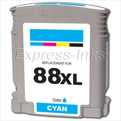 HP 88XL 10-Pack Cyan Ink Cartridges C9391AN