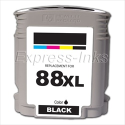 HP 88XL 10-Pack Black Ink Cartridge C9396A