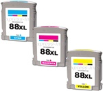 HP K550 88XL 3-Pack Ink Cartridge Combo CB329BN