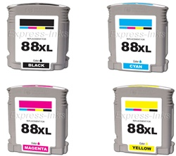 HP 88XL 4-Pack Inkjet Ink Cartridge Combo