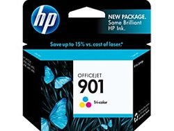 HP #901 Genuine Tri-Color Ink Cartridge CC656AN