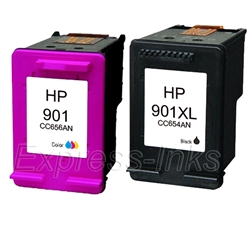 HP #901 CN069FN 2-Pack Ink Cartridge Combo