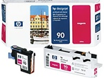 HP 90 Magenta Genuine Printhead & Cleaner C5056A