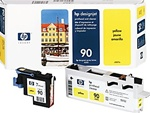 HP #90 Yellow Genuine Printhead & Cleaner C5057A