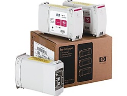HP 90 High Yield Value 3-Pack 400ml Magenta Ink/Inkjet Cartridges C5084A