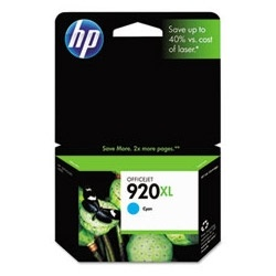 HP #920XL Genuine Cyan Inkjet Ink Cartridge CD972AN