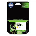 HP #920XL Genuine Yellow Inkjet Ink Cartridge CD974AN