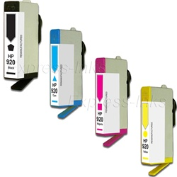 HP #920 4-Pack Inkjet Ink Cartridge Combo
