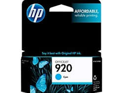 HP #920 Genuine Cyan Inkjet Ink Cartridge CH634AN