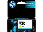 HP #920 Genuine Yellow Inkjet Ink Cartridge CH636AN