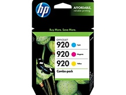 HP #920 3-Pack Genuine Ink Cartridge Combo CN066FN