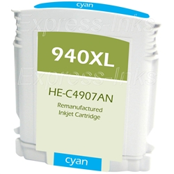 HP 940XL Compatible Cyan Inkjet Cartridge C4907AN