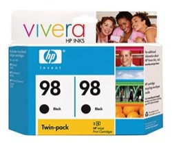 HP #98 Twin Pack Genuine Ink Cartridge C9514FN