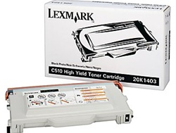Lexmark C510 Genuine Black Toner Cartridge 20K1403