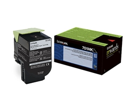 Lexmark 70C1HK0 Genuine Black Toner Cartridge 701HK