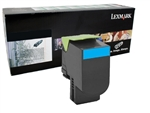 Lexmark 80C10C0 Genuine Cyan Toner Cartridge 801C