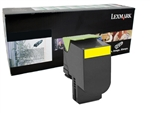 Lexmark 80C10Y0 Genuine Yellow Toner Cartridge 801Y