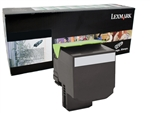 Lexmark 80C1HK0 Genuine Black Toner Cartridge 801HK