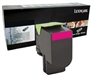 Lexmark 80C1HM0 Genuine Magenta Toner Cartridge 801HM