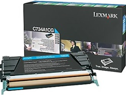 Lexmark C734A1CG Genuine Cyan Toner Cartridge