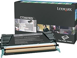 Lexmark C734A1KG Genuine Black Toner Cartridge