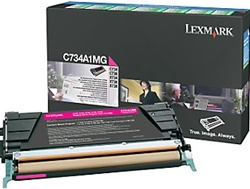 Lexmark C734A1MG Genuine Magenta Toner Cartridge