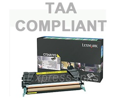 Lexmark C734A4YG Yellow Toner Cartridge
