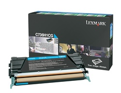 Lexmark C736H1CG Genuine Cyan Toner Cartridge