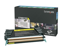 Lexmark C736H1YG Genuine Yellow Toner Cartridge
