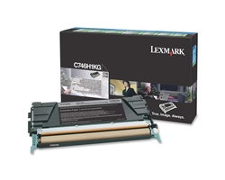 Lexmark C746H1KG Genuine Black Toner Cartridge