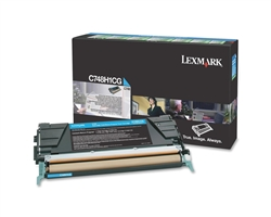 Lexmark C748H1CG Genuine Cyan Toner Cartridge