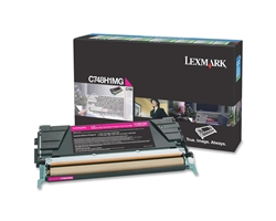 Lexmark C748H1MG Genuine Magenta Toner Cartridge
