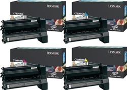 Lexmark C780 High Yield Genuine Toner Cartridge Combo